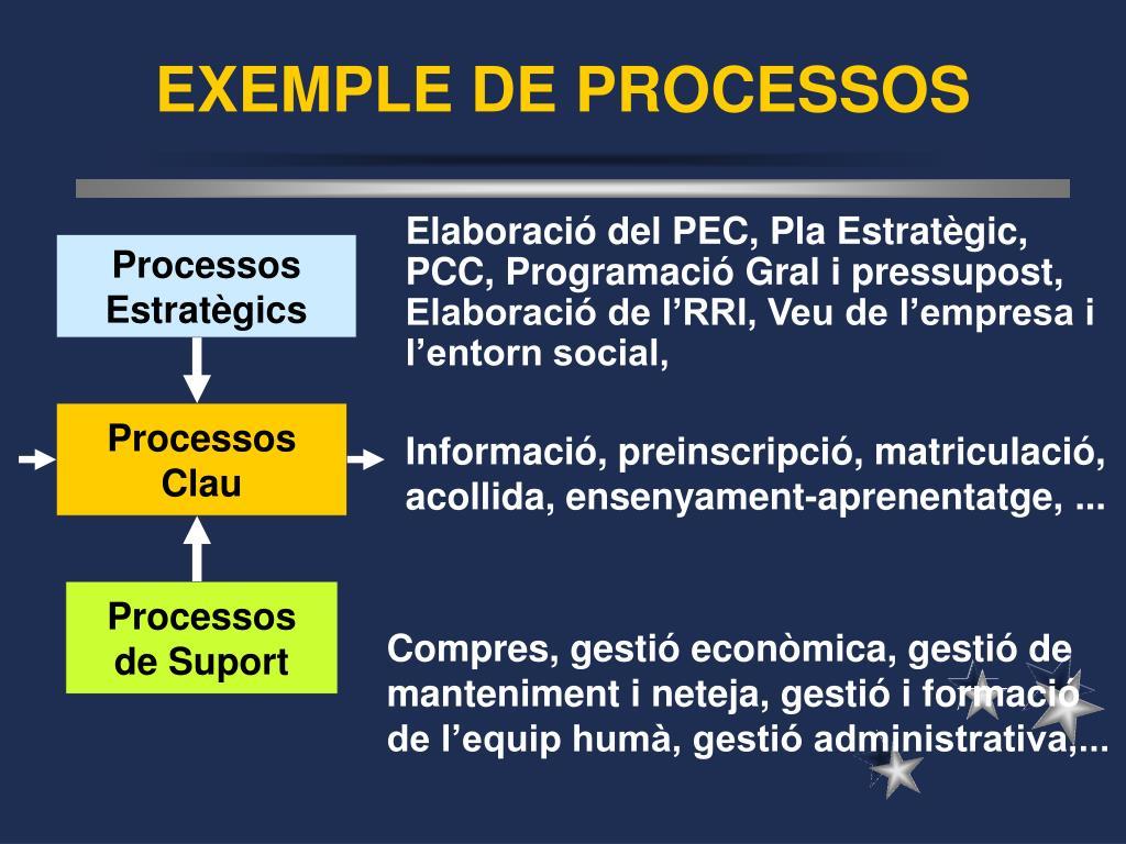 EXEMPLE DE PROCESSOS