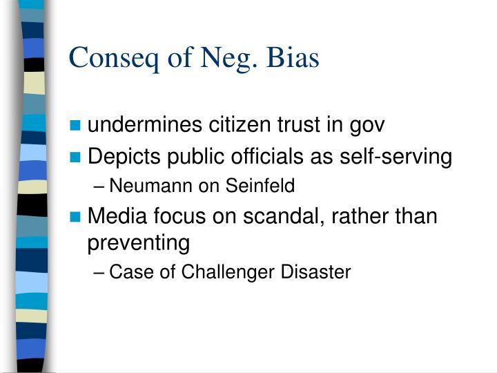 Conseq of Neg. Bias