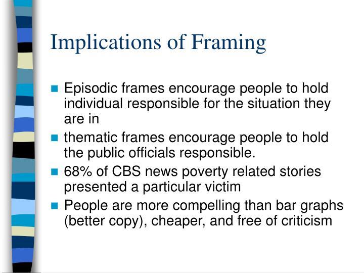 Implications of Framing