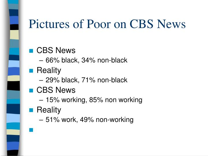 Pictures of Poor on CBS News