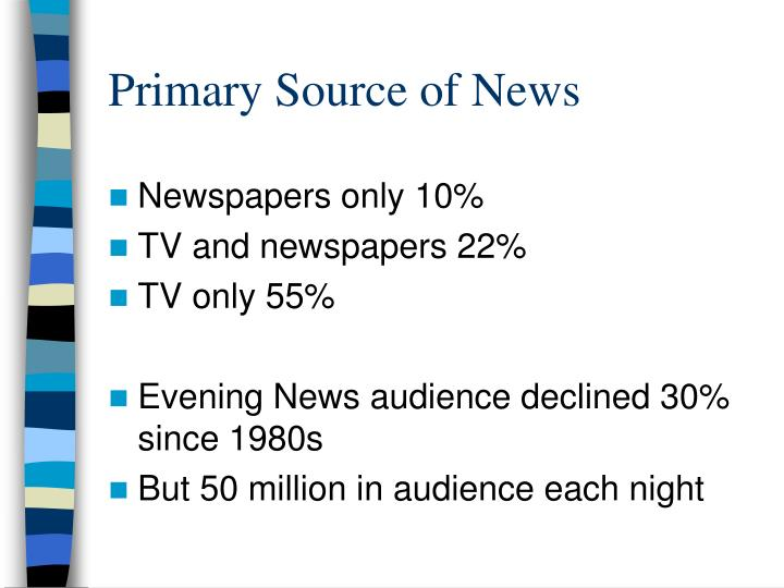 Primary Source of News