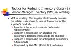 tactics for reducing inventory costs 2 vendor managed inventory vmi in retailing