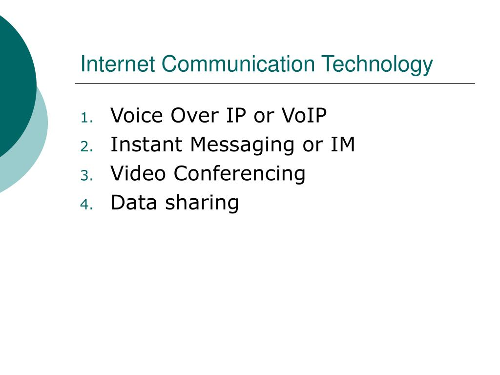 internet communication technology l.