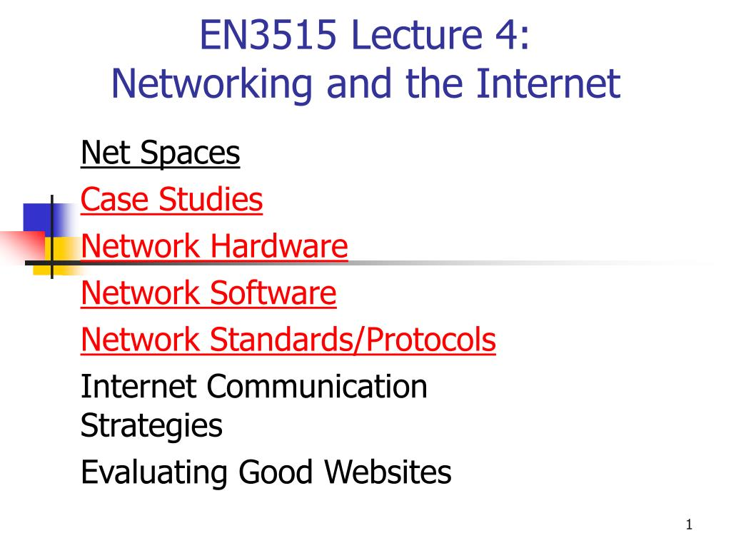 en3515 lecture 4 networking and the internet l.