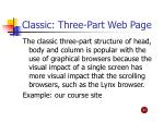 classic three part web page