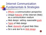 internet communication fundamentals strategies