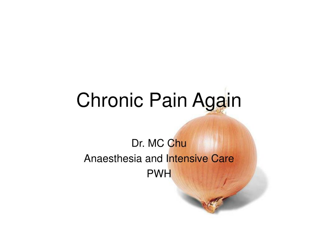 chronic pain again l.