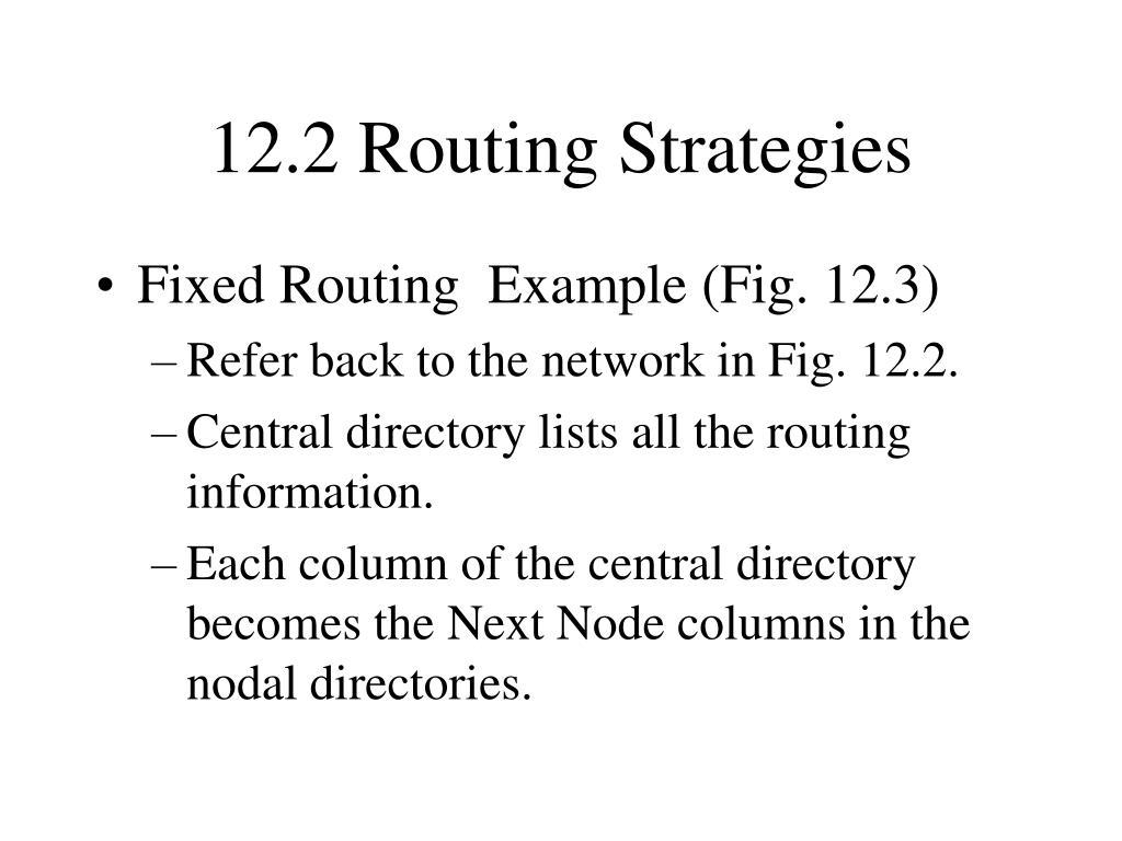 12.2 Routing Strategies
