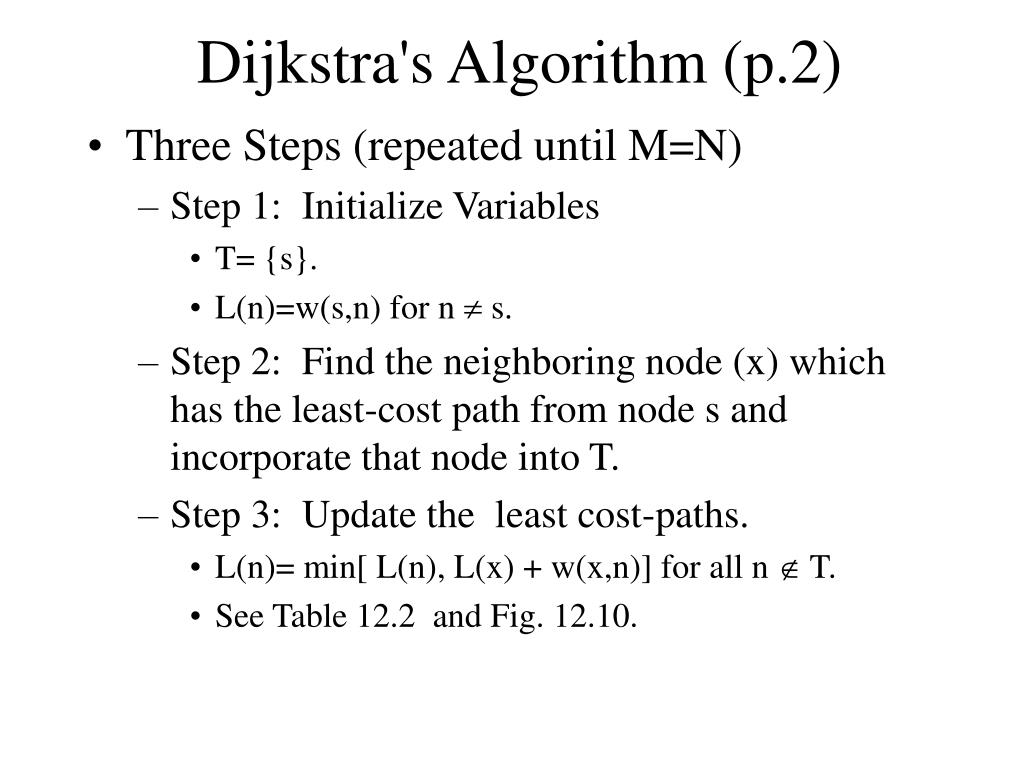 Dijkstra's Algorithm (p.2)