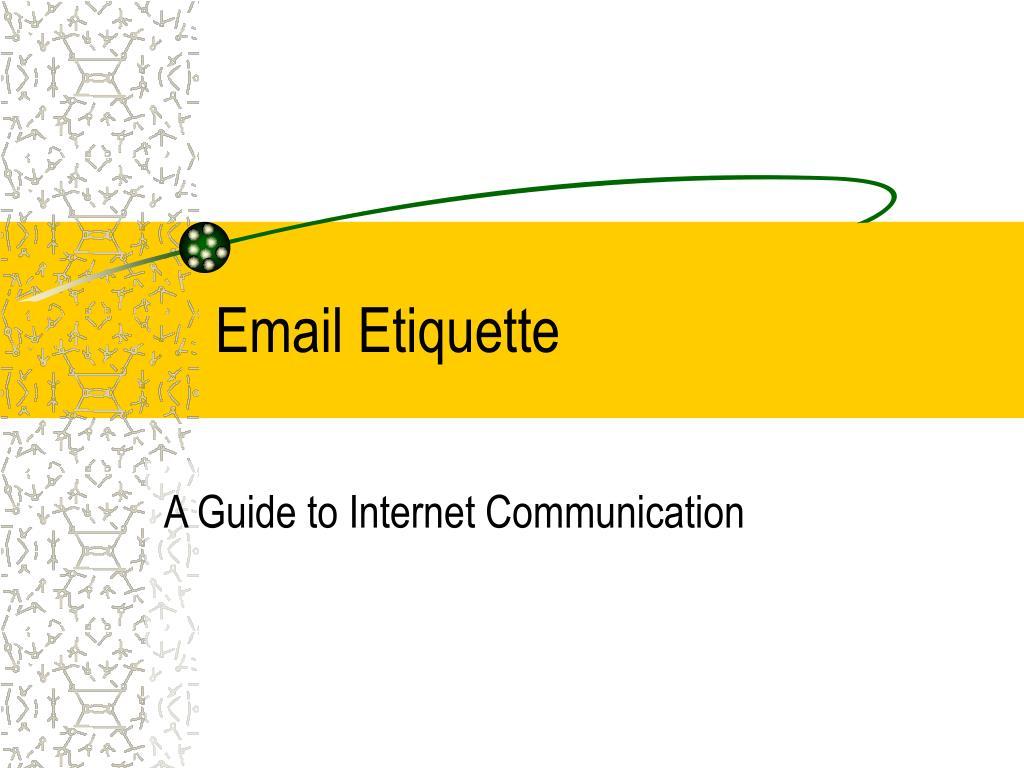 email etiquette l.