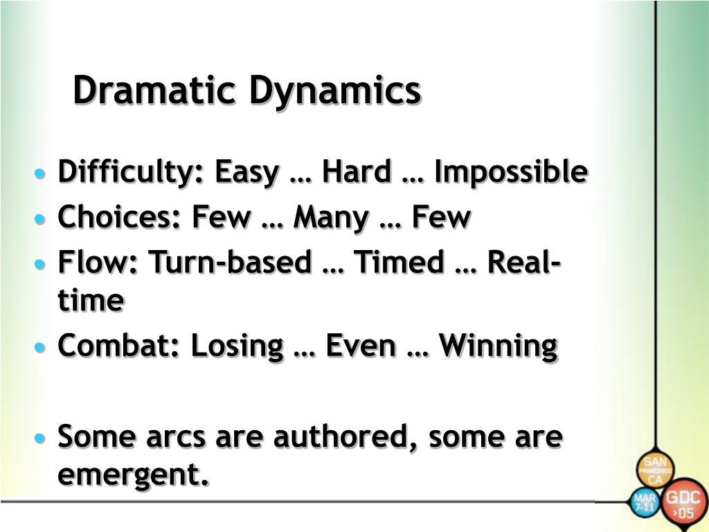 Dramatic Dynamics
