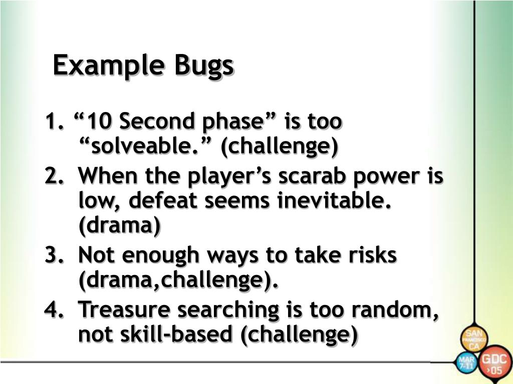 Example Bugs