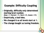 example difficulty coupling