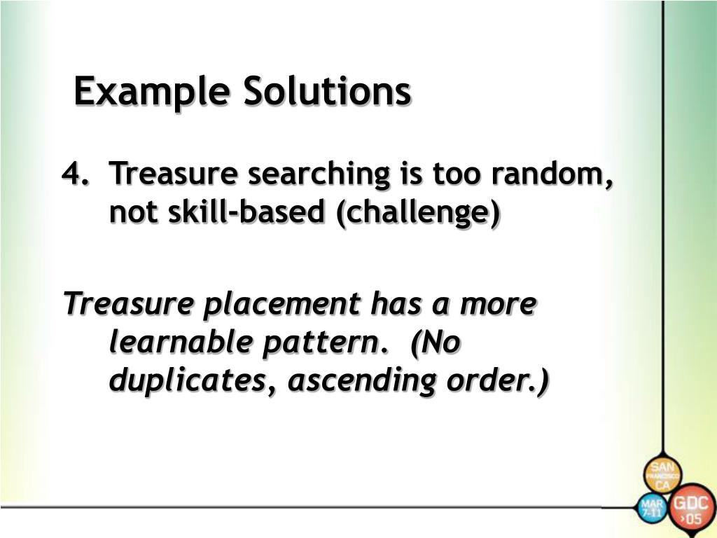 Example Solutions