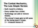the combat mechanics the less simple version