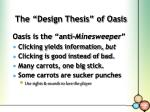 the design thesis of oasis