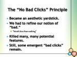 the no bad clicks principle