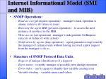 internet informational model smi and mib10