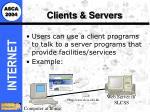 clients servers