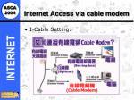 internet access via cable modem