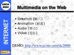 multimedia on the web