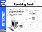 receiving email