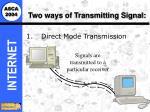 two ways of transmitting signal