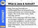 what is java activex
