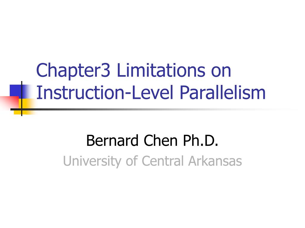 chapter3 limitations on instruction level parallelism l.