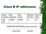 class b ip addresses