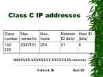 class c ip addresses