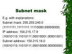 subnet mask32