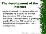 the development of the internet5