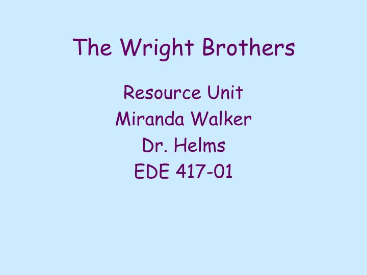 The wright brothers2