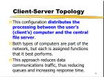 client server topology