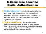 e commerce security digital authentication
