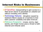 internet risks to businesses