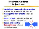 network control objectives