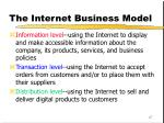 the internet business model