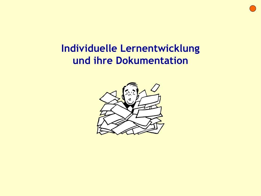 Individuelle Lernentwicklung