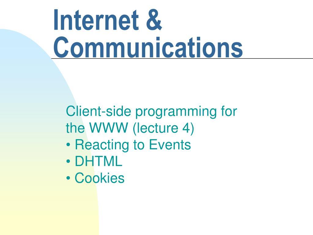 internet communications l.