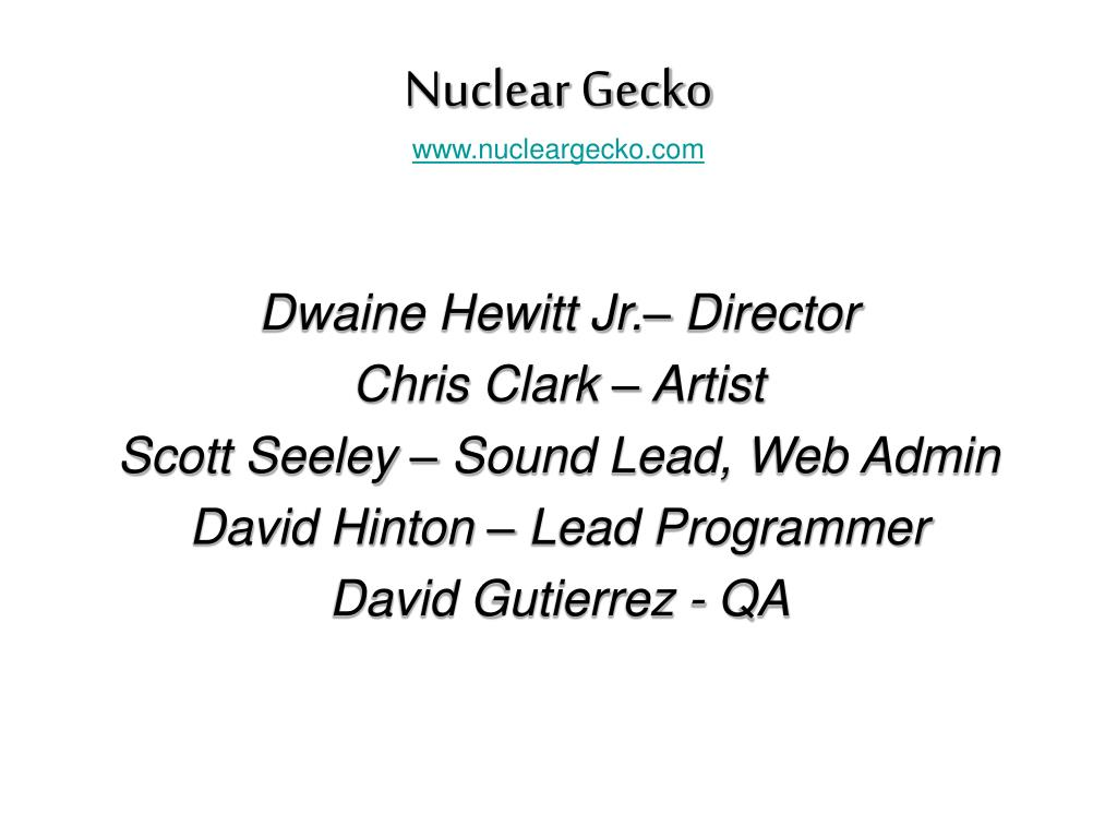 nuclear gecko www nucleargecko com l.