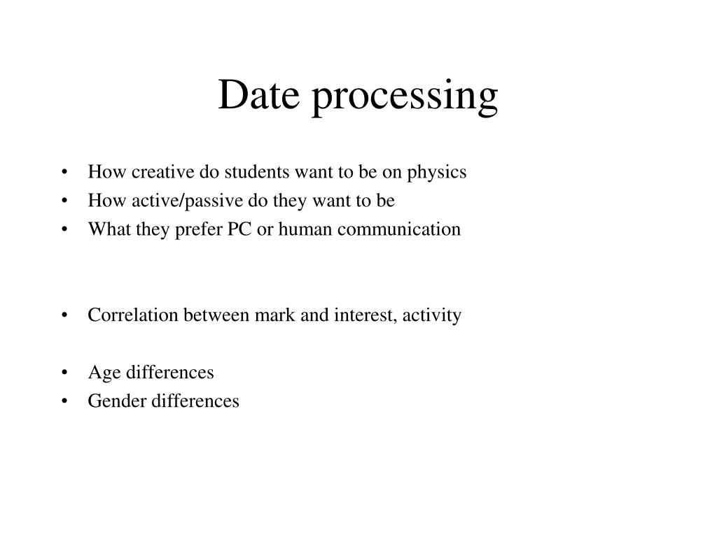 Date processing