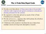the a train data depot goals