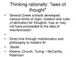 thinking rationally laws of thought