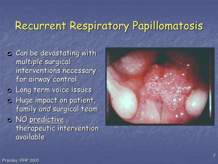 respiratory papillomatosis ppt