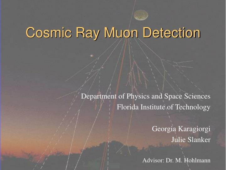 cosmic ray muon detection n.