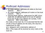 multicast addresses