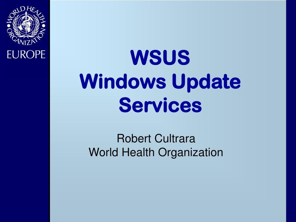 wsus windows update services l.