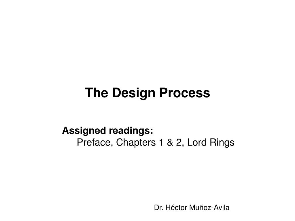 the design process l.